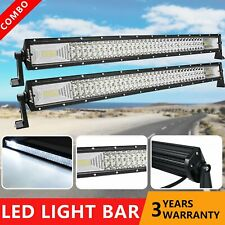 2X 32'' Inch 420W LED Work Light Bar Spot Flood Combo SUV Offroad For Jeep Ford