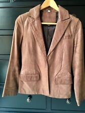 Vintage Women's Tan Light Brown Genuine Leather Jacket Size S Iro Acne Bcbg