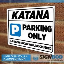 SUZUKI KATANA Owner Parking Metal Sign Gift - Birthday Present
