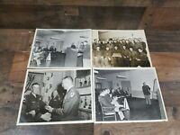 Lot Of 4 Vintage US Army 8×10 Photos Fort Sill Okla