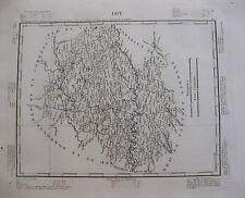 1835 Carte Atlas Géographique France Département Lot Cahors