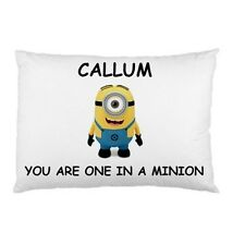 YOU ARE ONE IN A MINION Personalized childrens kids bed pillow case