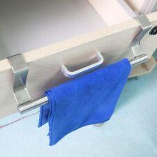 Over the Door Towel Rack Bar Hanging Holder Cabinet Shelf Rail Stainless Steel