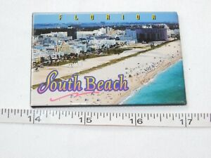 """Stock MGV Magnets Florida South Beach Magnetic fridge 2 1/8"""" X 3"""" Pre-owned"""
