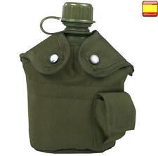 Cantimplora con funda airsoft, caza, camping, militar, policía PVC 1L litro