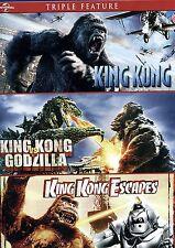 King Kong vs Godzilla Kong Escapes King Kong 2005 Triple Pack DVD + Digital Copy