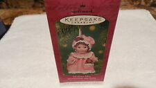 NIB 2 Hallmark Xmas Ornament MISTLETOE MISS & BEAR COLL SERIES #1 PORCELAIN 2001