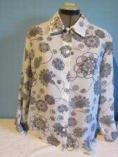Womens Haband Top Size M Floral Design