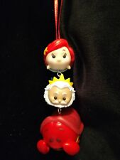 Disney Tsum Tsum Little Mermaid Christmas Ornament stack Sebastian Ariel Triton