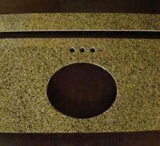 "31"" Bathroom Vanity Sink Base Cabinet China Green Granite Top 4"" Spread Faucet"
