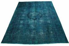 Vintage Teppich Blau Türkis in 380x300