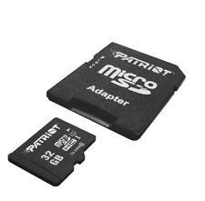 Micro SD Card 32GB Class 10 w/ Adapter Micro Memory High Speed SD MicroSDHC