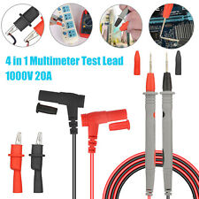 1000v 20a Probe Test Lead Alligator Clip Multimeter Universal Wire Cable Leads
