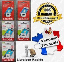 Carte Mémoire SANDISK Ultra 48 MB Micro SDHC SDXC 4 8 16 32 64 GO GB Class 4 10