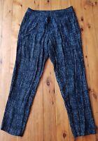 DAVID LAWRENCE Black/Cream Print Pants Size 10