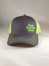 Trump Keep America Great Hat KAG Neon Yellow Brand New Cap  MAGA USA