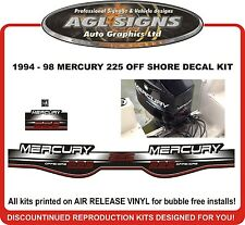 1994 1995 1996 1997 1998 MERCURY 225 Offshore Decal kit  135 150 200 250 hp also