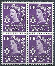 Northern Ireland 1967 Sc# 1 Queen Elizabeth 3p Great Britain GB block 4 MNH