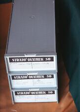 3 x STRATO- DIATHEK 50 Boxen mit je 2 Universal Diamagazinen für je 50 Dias
