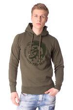 DIESEL Size S Men's SCENTYN-S 2RHQI Velour Mohawk Long Sleeve Pullover Hoodie