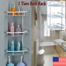 3 Tiers Triangular Shower Bathroom Bath Rack Caddy Storage Toilet Corner  Stand