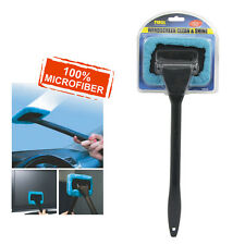 Car Wash Brush Window Cleaner Long Handle Dust Auto Care Windshield Shine Blue