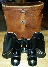 Vintage Wesco 7x50 Coated Field 7.1 Degree Binoculars Leather Case
