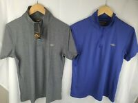 Mountain Designs Grey & Blue Polo T- Shirts Short Sleeve Hiking Womans Size 14