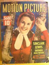 Motion Picture Magazine December 1942 Ida Lupino Michele Morgan Ava Gardner Rare