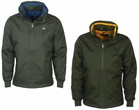 MENS BNWT VOI FALCON DESIGNER HOODED JACKET GREY KHAKI DESIGNER COAT S TO 3XL