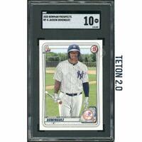 Jasson Dominguez SGC 10 Gem Mint 2020 Bowman Top Prospect #BP8 New York Yankees