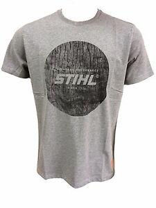 "Stihl T-Shirt ""wood circle"" hellgrau neue Kollektion alle Größen"