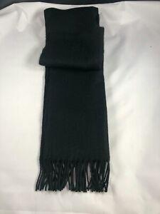 Mens Winter Scarf Ladies Soft Neck Warmer Plain Knitted Tassle Scarve Black