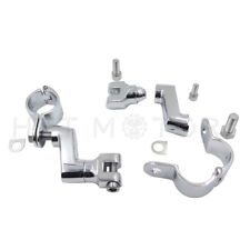 "Chrome Motorcycle 1.5"" Engine Guard Highway Bar Pegs Foot Peg Mounts Clamp"