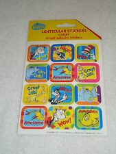 New Dr. Seuss Lenticular Stickers 1 Sheet 12 Stickers