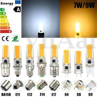 E14 G4 G9 E12 E11 E17 G8 BA15D LED 7W 9W COB Lampe Stiftsockel Glühbirne Licht