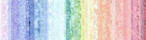 Hoffman Waves 2 Digital Spectrum Print T4886-135 Pastel Stripes Cotton Fab BTY