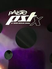 "Paiste Pstx 18"" Swiss Medium Crash Cymbal Purple Custom Colorsound"