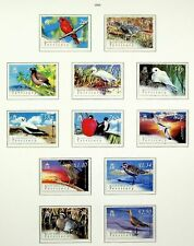 BRITISH INDIAN OCEAN TERRITORY 2004 BIRDS SET OF 12v MINT STAMPS