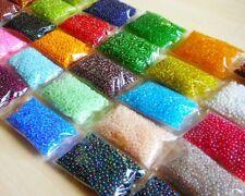 Rocailles Perlen Set 2mm 25 farben 500g Glasperlen Schmuckherstellung AM10