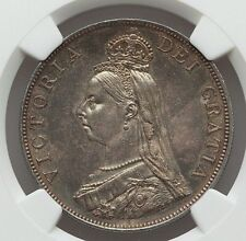 1887 GREAT BRITAIN QUEEN VICTORIA SILVER DOUBLE FLORIN (4 SHILLINGS) NGC MS-62