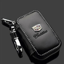 Genuine Leather Remote Entry Combo Car Key Bag Holder Cover for Cadillac