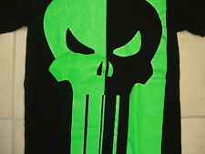 The Punisher Modern Marvel Comic book Cartoon Black and Green T Shirt S