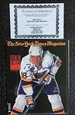 Brett Hull St. Louis Blues Signed w/Certificate New York Times Magazine Dec 1991