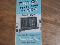 1954 PHILCO TV SALES BROCHURE   NOW OFFERS FREE SHIPPING