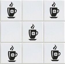 Coffee Cup Vinyl Tile Transfers Sticker Decal For Kitchen (vd10)