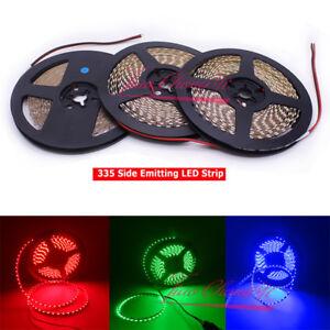 335 Side Emitting LED Strip Lights 12V Red Green Blue 5M 600LEDs non-waterproof