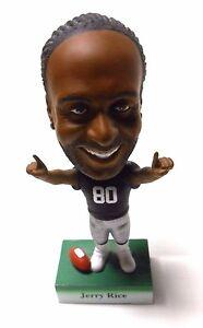 RARE Loose Jerry Rice Upper Deck Raiders 49ers HOF Bobblehead Bobble Head Doll