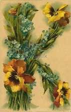 """Vintage Victorian Klein Floral Letter Initial """"K""""  2"""" x 3"""" Fridge Magnet"""