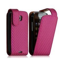 Housse coque étui gaufré pour Samsung Galaxy Teos i5800 couleur rose fushia